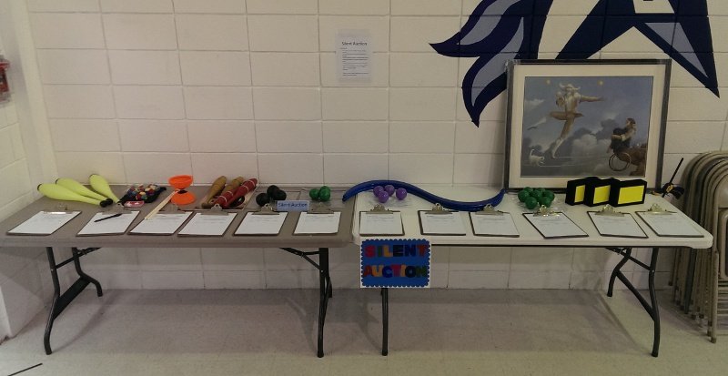Austin Jugglefest 2014 - Silent Auction Table